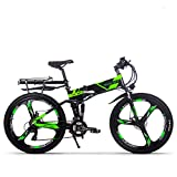 Rich bit RT860 Bicicleta eléctrica 250W Bicicleta Plegable de montaña LG Li batería 36 V * 12.8 Ah Smart eBike 26 Pulgadas MTB para Hombres/Adultos