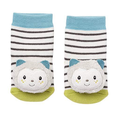 Fehn 057249 - Calcetines con sonajero, diseño de gato,