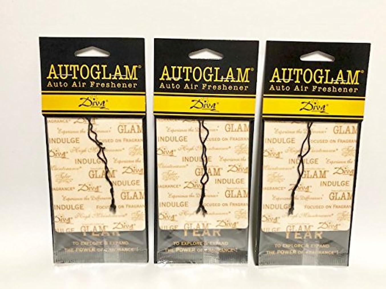 Tyler Candles Autoglam Auto Air Freshener, Diva, Set of 3