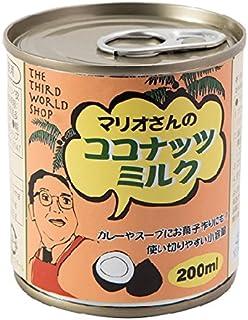 第3世界ショップ マリオさんのココナッツミルク 200ml×4個