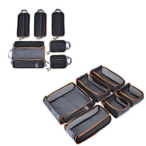 (バッグスマート)BAGSMARTトラベルポーチ6点セット衣類収納ケースアレンジケース出張ケース大容量旅行ケース整理整頓便利グッズトラベルケース