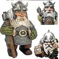 Viking Victor Norse Dwarf Gnome Statue- Viking Garden Gnome Full Color Decoration (A+B)
