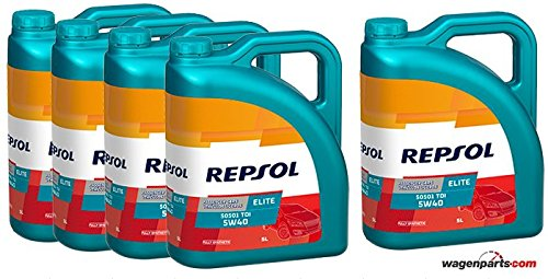Repsol Aceite Motor Elite TDI 50501 5W-40 25 litros (5x5 litros)