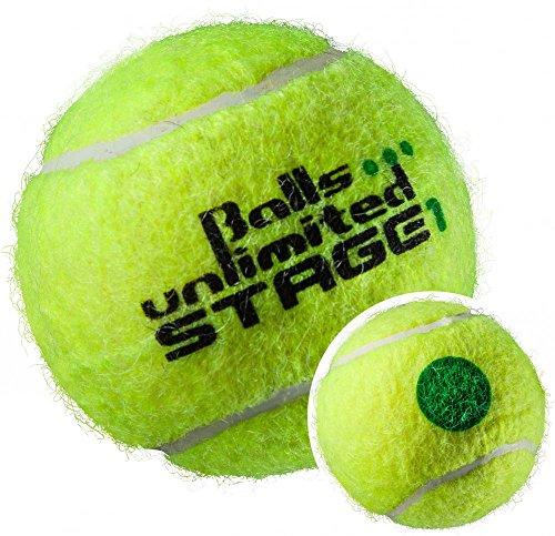 Balls ... unlimited Stage 1 Tournament (grün) Kinderbälle, Trainingsbälle 25% Druckreduziert, Methodikbälle - 60er Beutel