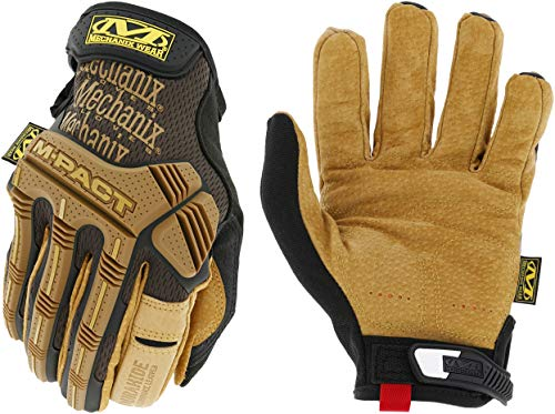 Mechanix Wear: M-Pact Leather Work Gloves (X-Large, Brown/Black)