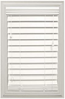 HDC White Cordless 2-1/2 in. Premium Faux Wood Blind - 47 in. W x 48 in. L