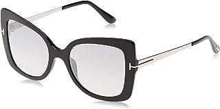 نظارة توم فورد FT0609 01C نظارة شمسية بتصميم الفراشة جيانا باللون الأسود اللامع فئة 2