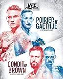UFC en FOX 29 Dustin Poirier VS Justin Gaethje Póster de cubierta de boxeo Impresión en lienzo Arte de la pared Decoración Imagen Decoración de habitación moderna -20x28 pulgadas Sin marco (50x70cm)
