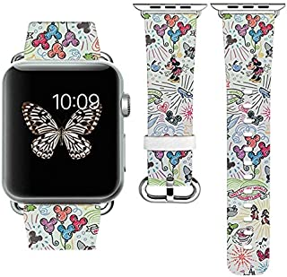 Replacement Band Strap Compatible with Apple Watch iWatch with adapters 42-44mm or 38-40mm iWatch Band Series 1 Series 2 Series 3 Series 4 Length S/M or M/L (38-40mm S/M)