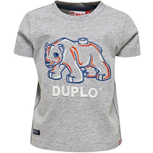 Lego Wear Duplo Boy Texas 601-T-Shirt T-Shirt, Grau (Grey Melange 924), 24 Mois Bébé garçon