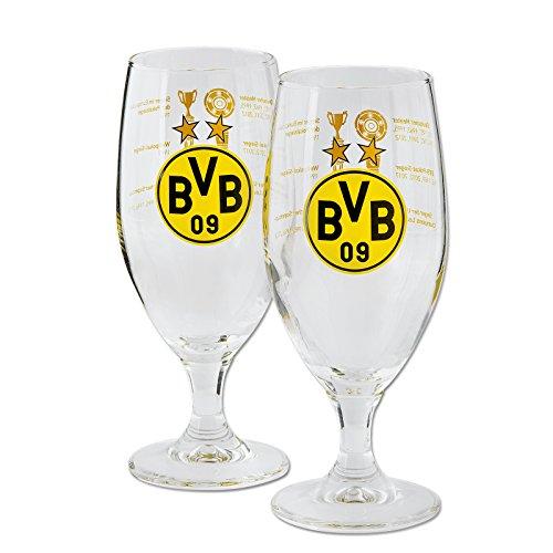 Borussia Dortmund BVB-Pilstulpe mit Erfolgen (2 Stück)