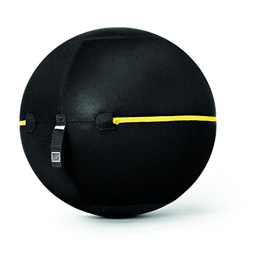 technogym Wellness Ball Active Sitting - Pelota de Ejercicios, Color Negro, 55 cm 🔥
