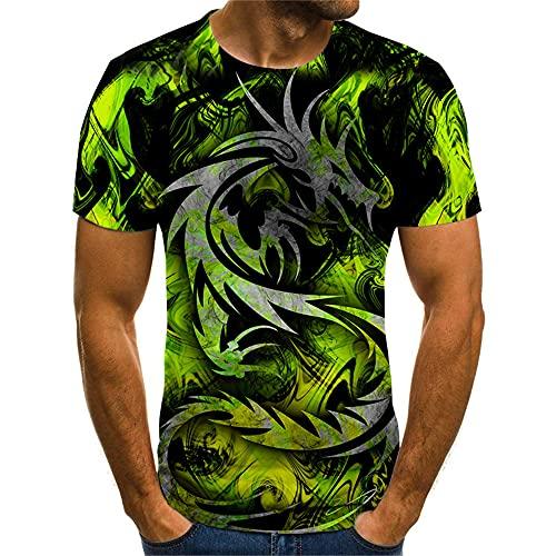 Streetwear Uomo Manica Corta Stile Hip Hop Girocollo 3D novità Stampa Uomo T-Shirt Estate personalità Moda Uomo Shirt Trend Shirt Casual Uomo Creativa TX8117 M