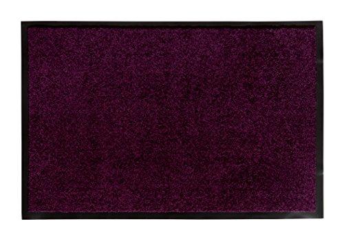 andiamo Schmutzfangmatte Fußabtreter Türmatte Fußmatte Sauberlaufmatte Schmutzabstreifer Türvorleger – Eingangsbereich In/Outdoor – rutschhemmend waschbar lila Polypropylen– 80x120 cm – 5 mm Höhe