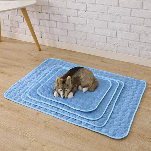 Pannow Pet Dog Self Cooling Mat Pad, Pet Cooling Blanket for Kennels, Crates, Beds, Travel, Couch, Car Seat