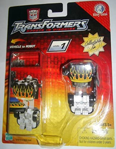 Hot Shot tiny tin Transformers RID R.I.D. Robots in disguise 2003 hotshot