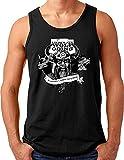 OM3® Odin Wikinger Tank Top Shirt | Herren | Lieber EIN Wolf Odins Als EIN Lamm Gottes | Schwarz, 4XL