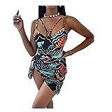 Traje de baño de una pieza para mujer Bikini estampado traje de baño de mujer