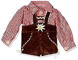 Puppenmode Sturm 7150-0 Karohemd mit Lederhose für Puppen, Rot