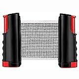 YLJYJ Juego de Tenis de Mesa portátil, Red de Ping Pong retráctil con Bolas de Ping Pong de 3 Estrellas y Almacenamiento, Kit Todo en uno de Primera Calidad para Cualquier T (Juegos de Escritorio)