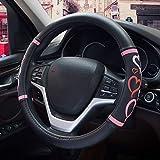 HONCENMAX Femmes Véhicule Couvre Volant Voiture Protecteur de Volant Fashion - Universel pour Auto/Truck/SUV Diamètre 38cm (15')