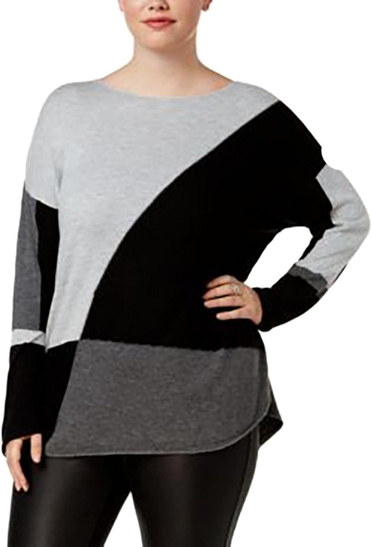 INC International Concepts Plus Size LongSleeve HighLow Sweater