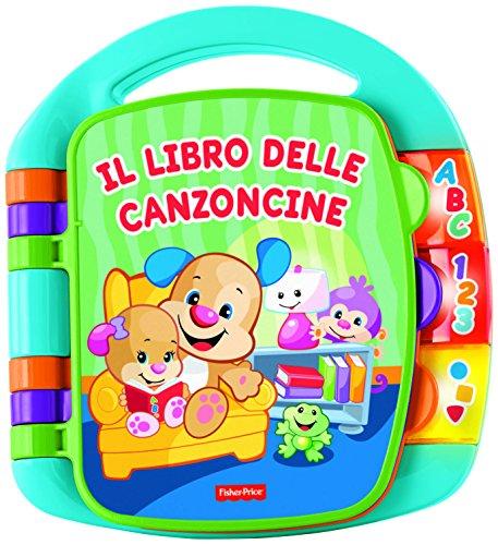 Fisher Price- Libro delle Canzoncine Ridi e Impara, Libricino per Bambini dai 6 Mesi per Imparare Parole, Lettere e Numeri, CDH49