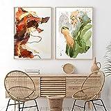 Arte de Pared Abstracto La última Pintura Impresión de Arte Carteles e impresión Pintura Imagen Sala de Estar Decoración para el hogar 2 Piezas 60x80cm / 23.6'X31.5 Sin Marco
