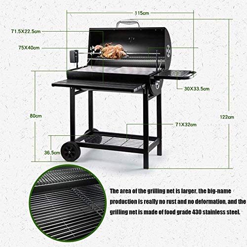 51ABoi2Sx0L - American Barbecue Haupthofdekorationen Bed and Breakfast Terrasse Grill Holzkohle Grill Stew Large Size mehr als 5 Personen Garten BBQ