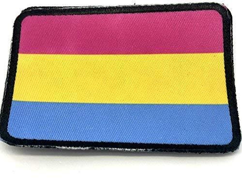Panseksuele Pride LBGTQ Vlag Gesublimeerde Morale patch