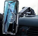 DesertWest Handyhalter, Handy Halterung Auto Smartphone Halterung Handy Halter fürs Auto Phone Holder Tisch mit Automatische Erinnerungsfunktion für iPhone, Samsung, Huawei, LG und mehr