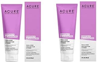 Acure Radically Rejuvenating Facial Scrub 4 Oz (2 Pack)