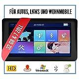 Elebest City 70A Navigationsgerät 7 Zoll Display (17,8cm) Touchscreen, 32GB Speicher, für PKW,LKW,Wohnmobil,GPS,Navi,Freisprecheinrichtung, Bluetooth, Lebenslange Kostenlose Kartenupdate