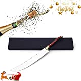 """RUNNING PUPPY Opener Champagne Saber, 16 1/2"""", Red Handle"""
