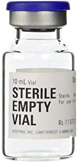 Hospira 10ml Sterile Empty Glass Vials (5 Pack)