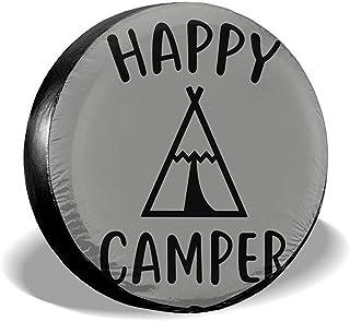 Alice Eva Couvre-Roue de Secours Prot/ège-Roues Universel Anti-poussi/ère Universel en Polyester Happy Camper