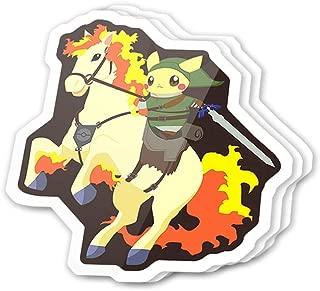 Kachi Art Cool Sticker (3 pcs/Pack,3x4 inch) Legend of Pika Cute Anime Stickers for Water Bottles,Laptop,Phone,Teachers,Hydro Flasks,Car