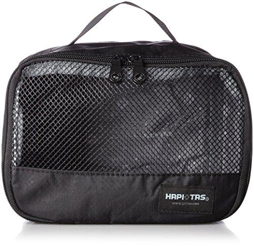 [ハピタス] オーガナイザー Sサイズ パッキングバッグ 中身がわかるメッシュ生地 豊富な柄 15 cm 0.08kg 128チェッカーブラック
