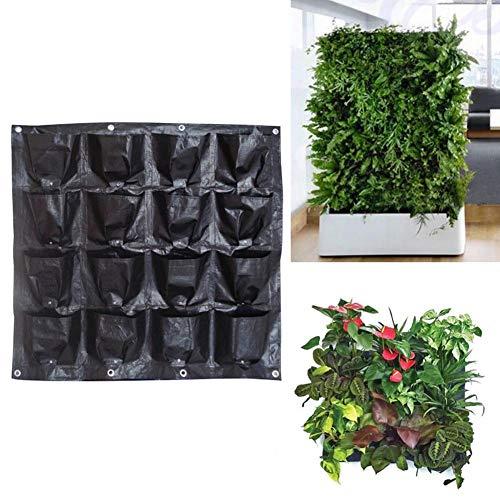 Jannyshop 16 Taschen Pflanzen Hängebeutel Verdickt Sonnenbeständige wasserdichte Hängetasche Packung mit Drainagelöchern 98×98CM