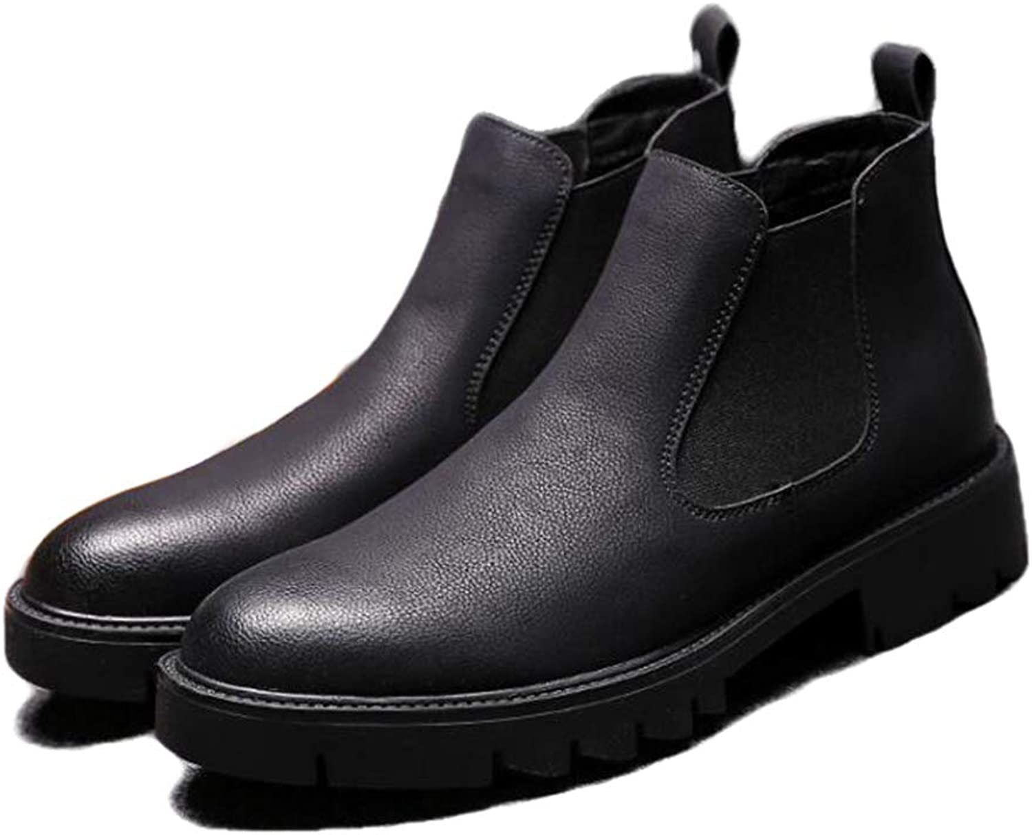 Phil Betty Mens Booties Warm Pull-On Non-Slip Breathable Wear-Resistant Casual shoes