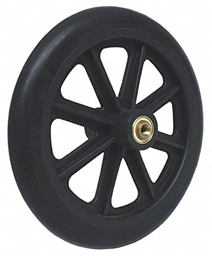 """8"""" x 1"""" Front Wheelchair Wheel (Each), 5/16"""" (8 mm) Bearing, 2-3/8"""" (60 mm) Hub Width, Fits Most Medline, Drive, Invacare, E&J, Guardian, Tuffcare, ALCO & Other Manual Wheelchairs (5/16"""" Bearing/Axle)"""