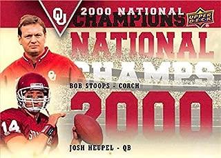 Bob Stoops & Josh Heupel football card (Oklahoma Soones) 2011 Upper Deck #NCD-SH 2000 National Champions