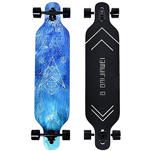 B BAIJIAWEI Drop Through Longboard - 41 Inch Maple Skateboard - Complete Skateboard Cruiser for...