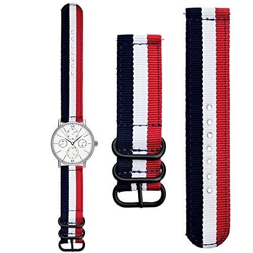 Archer Watch Straps, cinturino orologio in tela a sgancio rapido, cinturino di ricambio per orologio in nylon per uomo e donna (1 pezzo)