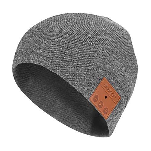 Bluetooth Beanie Mütze,BLUEEAR Bluetooth 5.0 Kopfhörer Kabellose Winterstrickmützen mit Stereo-Lautsprecher und MIC,Geschenk zum Geburtstag,Weihnachten,Erntedankfest