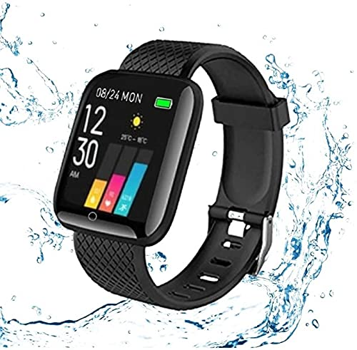 TechKing Bluetooth Wrist Smart Watch/Health Bracelet/Smart Watch/Activity Tracker/Bracelet Watch/Smart Fitness Band/with Heart Rate Sensor for Boys and Gilrs
