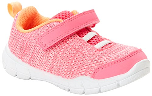 Simple Joys by Carter's Girls' Knitted Unisex Athletic Shoe Sneaker, Pink, 10 M US Toddler