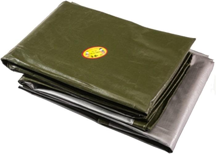 AJZGF Tissu imperméable à l'eau imperméable Bache épaisse imperméable à l'eau logistique Camion batiment Anti-poussière étanche au Vent en Plastique Tissu Anti-oxydation, Vert foncé