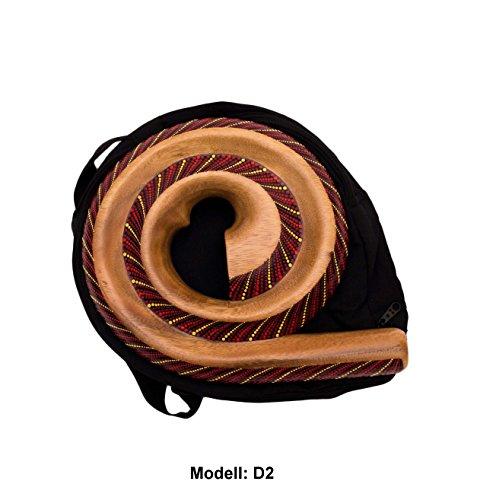 Didgeridoo Rundform Instrument Naturmaterialien Reisetasche Spirale Australien (D2)