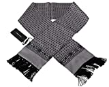 Dolce & Gabbana Bufanda de seda para hombre de borla barroca de plata